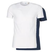 material Men short-sleeved t-shirts Levi's SLIM 2PK CREWNECK 1 Marine / White