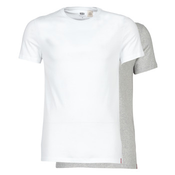 material Men short-sleeved t-shirts Levi's SLIM 2PK CREWNECK 1 White / Grey