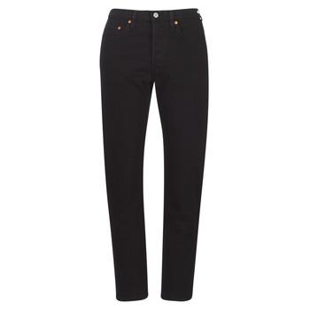 material Women Boyfriend jeans Levi's 501 CROP  black / Heart