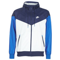 material Men Macs Nike M NSW HE WR JKT HD Blue / White