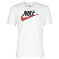 material Men short-sleeved t-shirts Nike M NSW TEE ICON FUTURA White