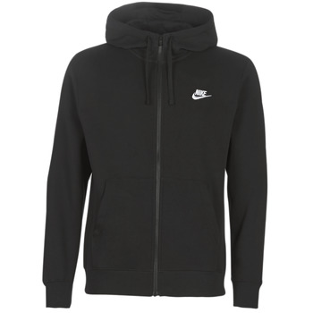 material Men sweaters Nike M NSW CLUB HOODIE FZ BB Black