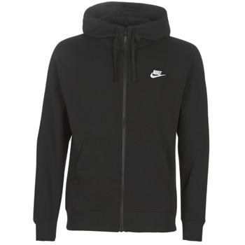 material Men sweaters Nike M NSW CLUB HOODIE FZ BB Black