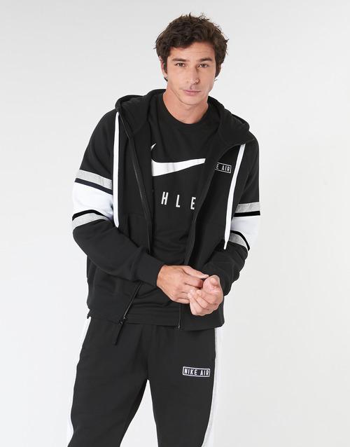 Fuera de plazo impactante chatarra  Nike M NSW NIKE AIR HOODIE FZ FLC Black - Fast delivery | Spartoo ...