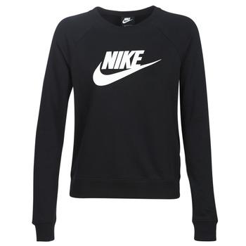 material Women sweaters Nike W NSW ESSNTL CREW FLC HBR Black