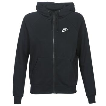 material Women sweaters Nike W NSW ESSNTL HOODIE FZ FLC Black
