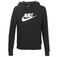 material Women sweaters Nike W NSW ESSNTL HOODIE PO  HBR Black
