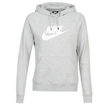 material Women sweaters Nike W NSW ESSNTL HOODIE PO  HBR Grey