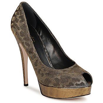 Shoes Women Court shoes Sebastian TESS Grey / Gold
