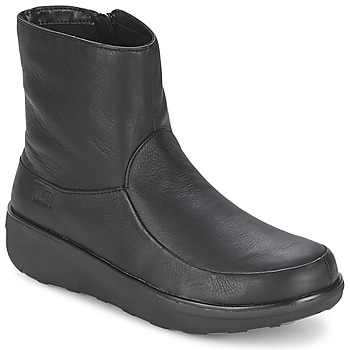 Shoes Women Ankle boots FitFlop LOAFF SHORTY ZIP BOOT Black