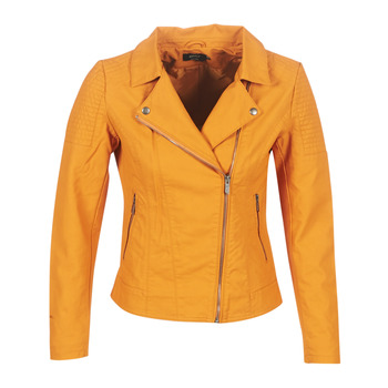 material Women Leather jackets / Imitation leather Only ONLMEGAN Yellow