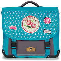 Bags Girl Satchels Back To School POL FOX PARADISE ISLAND CARTABLE 38 CM Blue / Grey