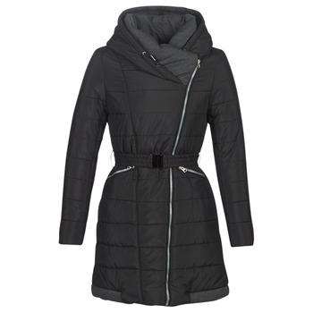 material Women Duffel coats Casual Attitude LUCIOLE Black