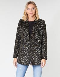 material Women coats Vero Moda VMCOCOLEOPARD Brown