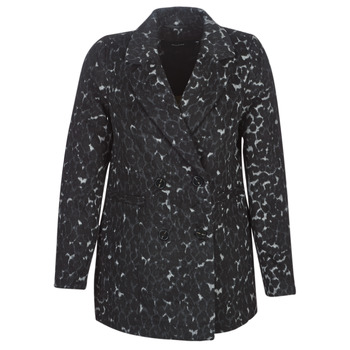 material Women coats Vero Moda VMCOCOLEOPARD Grey
