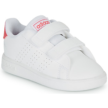Shoes Girl Low top trainers adidas Originals ADVANTAGE I White
