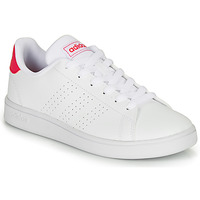 Shoes Girl Low top trainers adidas Originals ADVANTAGE K JU White
