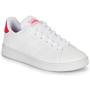 Shoes Girl Low top trainers adidas Originals ADVANTAGE K JU White