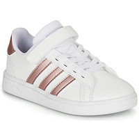 Shoes Girl Low top trainers adidas Originals GRAND COURT C White