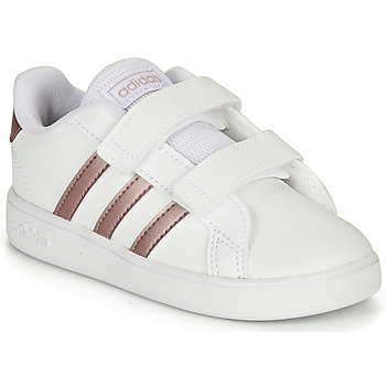 Shoes Girl Low top trainers adidas Originals GRAND COURT I White