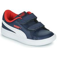 Shoes Boy Low top trainers Puma SMASH Marine
