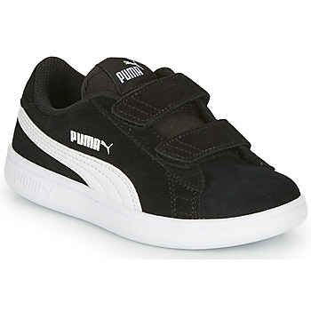 Shoes Boy Low top trainers Puma SMASH V2 SD V Black