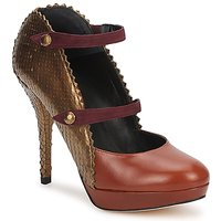 Shoes Women Court shoes Karine Arabian PHOENIX Brown / Gold / Bordeaux