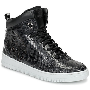 Shoes Men High top trainers Roberto Cavalli 8343 Black