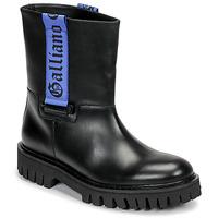 Shoes Men Mid boots John Galliano 8560 Black / Blue