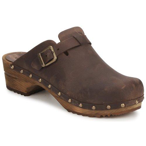 Shoes Women Clogs Sanita KRISTEL OPEN Brown