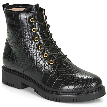 Shoes Women Mid boots André NAJOUA Black
