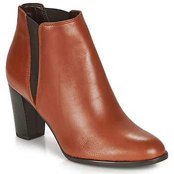 Shoes Women Ankle boots André ELONA Cognac