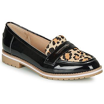 Shoes Women Loafers André PORTLAND Leopard