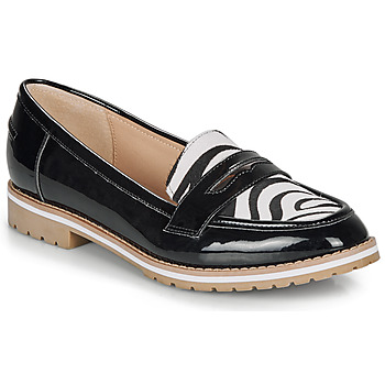 Shoes Women Loafers André PORTLAND Black / Motif