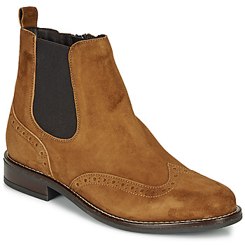 Shoes Women Mid boots André ECLUSINE Camel