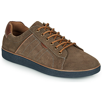 Shoes Men Low top trainers André ELTON Kaki