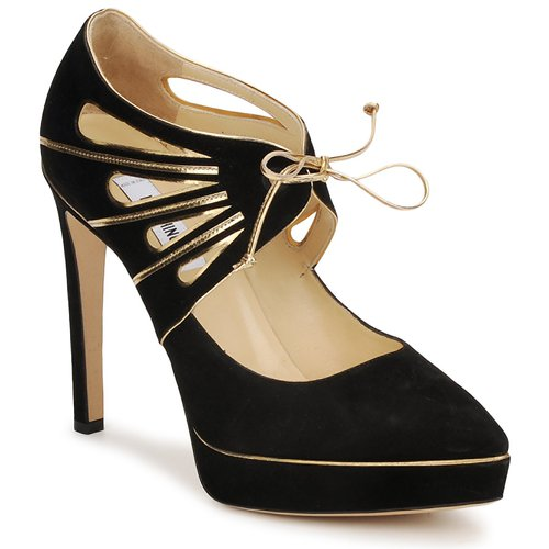 Shoes Women Court shoes Moschino MA1004 Black gold