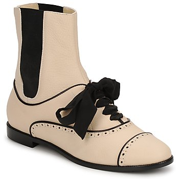 Shoes Women Mid boots Moschino MA2103 BEIGE
