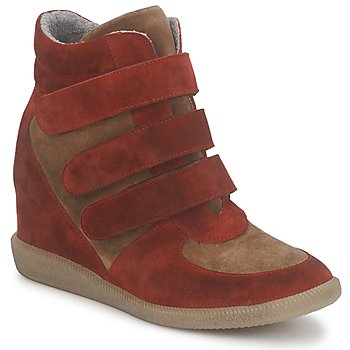 Shoes Women High top trainers Meline IMTEK BIS Brown / Red