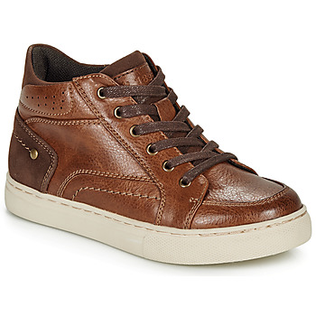 Shoes Boy High top trainers André FABOU Brown
