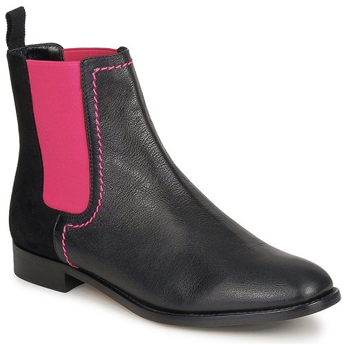 Shoes Women Mid boots Moschino Cheap & CHIC CA2112 Black / Pink