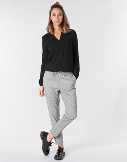 material Women chinos Only ONLPOPTRASH Black / White