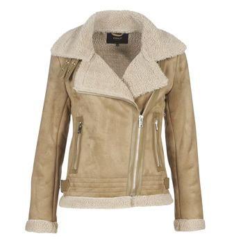 material Women Leather jackets / Imitation leather Only ONLMADDIE Beige