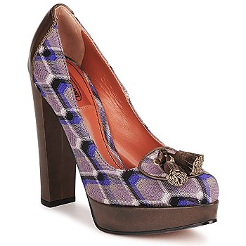 Shoes Women Court shoes Missoni RASHEL Violet / Brown