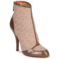 Shoes Women Ankle boots Missoni LISCIA BEIGE / Brown