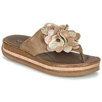 Shoes Women Flip flops Think ZEGA Beige
