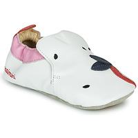 Shoes Girl Slippers Catimini CIRINI White / Pink