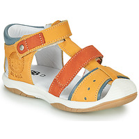 Shoes Boy Sandals GBB EUZAK Yellow / Orange