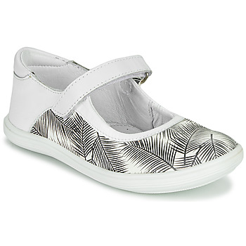 Shoes Girl Ballerinas GBB PLACIDA White / Black