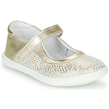 Shoes Girl Ballerinas GBB PLACIDA White / Gold